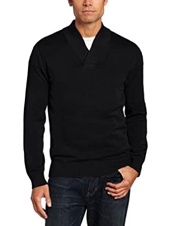 John Henry Men's Cross Over Sweater, Black, Large