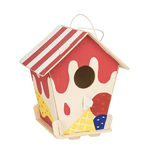 - ROBOTIME 3D Wooden Painting Puzzle Bird House Kits to Build DIY Kits Educational Toys for Kids Age 3+