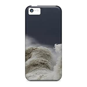 New Style MeSusges Hard Case Cover For Iphone 5c- Massive Waves Hitting A Lighthouse
