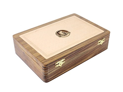 Gold Chess (House of Chess - Wooden Chess Box for Storage of Rio Staunton Chess Pieces King Size - 4