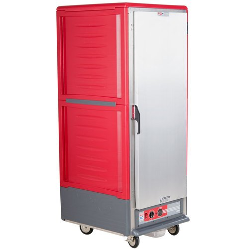 - Metro C539-HFS-U C5 3 Series Full Height Solid Door Heated Holding Cabinet - Red