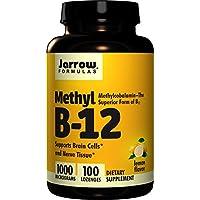 Jarrow Formulas Methylcobalamin (Methyl B12), Soporta Células Cerebrales y Tejido Nervioso, 1000 mcg, 100 Lozenges