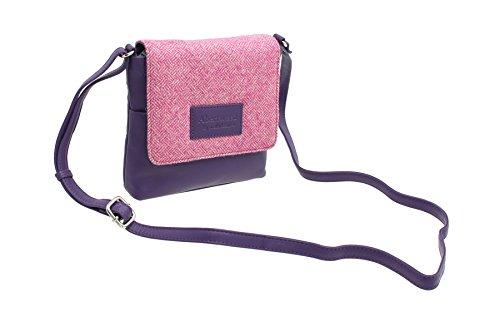 Mala Leather - Bolso cruzados para mujer, Candy Pink (Rosa) - 7106_40 Candy Pink