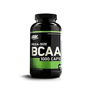 Optimum Nutrition Instantized BCAA Branched Chain Essential Amino Acids Capsules, 1000mg, 400 Count