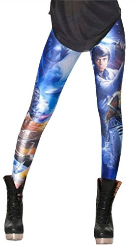 UGET Women's Printed Leggings Tights Pants Star Wars One Size