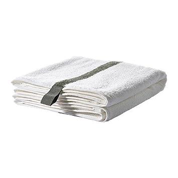 IKEA FARGLAV - toalla de mano, blanco, gris oscuro - 50x100 cm: Amazon.es: Hogar