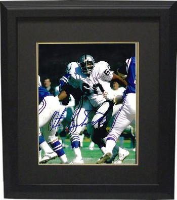 800c3344a62 Autographed Otis Sistrunk Photograph - 8x10 Custom Framed blue sig) -  Autographed NFL Photos