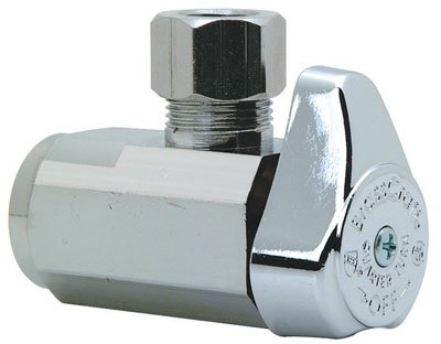 Brasscraft Shut-Off Valve < 0.25 % Lead Angle 3/8