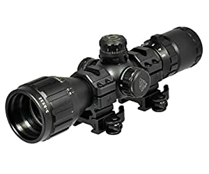"UTG 3-9X32 1"" BugBuster Scope, AO, RGB Mil-dot, QD Rings"