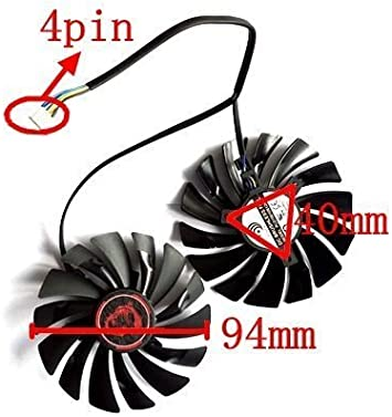 90mm Black FDC10H12S9-C Graphics Card Fans FDC10H12S9-C GPU Cooler for XFX R9 390//390X 8G R9-290//290X//280X//270//270X//285//280 Video Cards Cooling