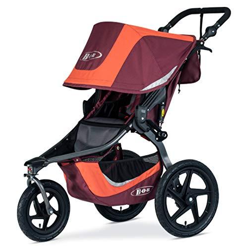 BOB Gear Revolution Flex 3.0 Jogging Stroller - Up to 75 Pounds - UPF 50+ Canopy - Adjustable Handlebar - Easy Fold, Sedona Orange