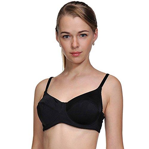 73d30440c3433 Women s Underwire Plus-Size Unpadded Everyday Bra Bralettes Lingerie  Racerback (Black XXXL 276)