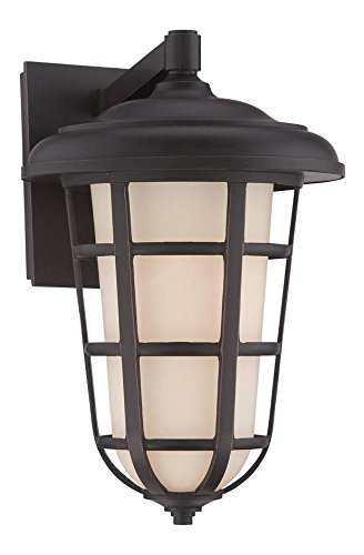 Aged Bronze Patina Triton 9in. Width 1 Light Outdoor Lantern Wall Sconce by Designers Fountain