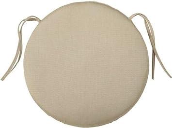 Bullnose Round Outdoor Chair Cushion, 2u0026quot;Hx18u0026quot;DIAMETER, ...