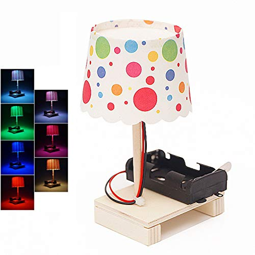 Nivalkid Table Lamp Model DIY Color Transformation Table Lamp Assembly Kids Toys Early Science Education Home Office School Professional Colorful Small Table Lamp (AS Show) -