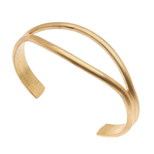 Solid Brass Open Bracelet Inches