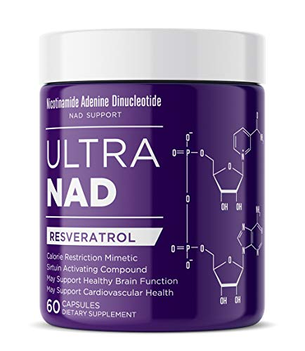 ULTRANAD Resveratrol Supplement 1000 mg, 60 Capsules to Help Support Immune System, Brain and Cardiovascular Health, Sirtuin Activator, 2 caps/Serving, Non-GMO & Gluten Free