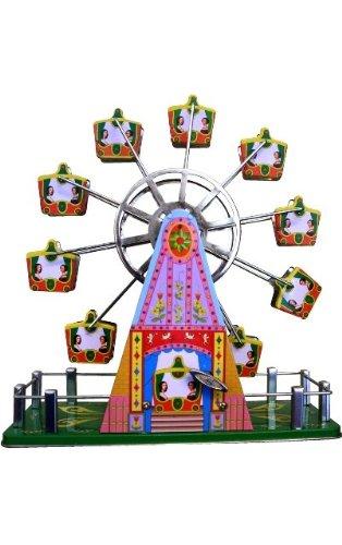 Collectible Container Tin Decorative - Alexander Taron Importer MS488 Collectible Tin Toy, Musical Ferris Wheel