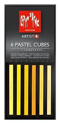 CREATIVE ART MATERIALS Caran D'ache Pastel Cube Set/6 Sunflower (7806.002)