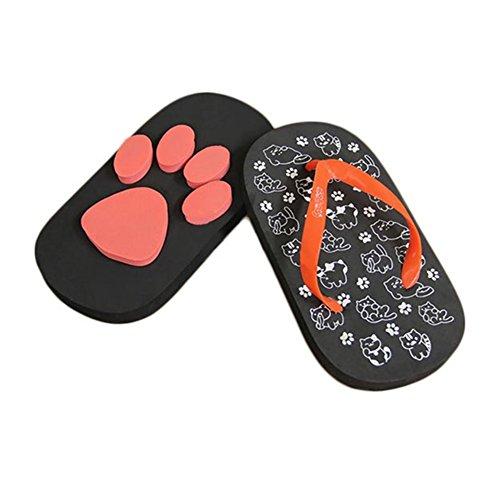 a4e69bfc81958 MineSign Flip Flops for Women Girl Beach Slippers Cat Paw Clogs Summer  Sandals Outdoor Shoes Small