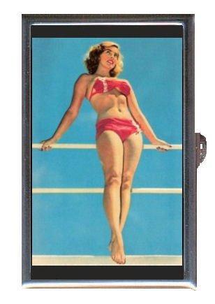 1960s Italian Pin Up Bikini Coin, Mint or Pill Box: Made in - Bikinis Italian