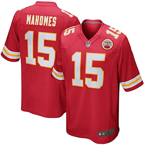 (Youth #15 Patrick Mahomes Kansas City Chiefs Game Jersey - Red M)