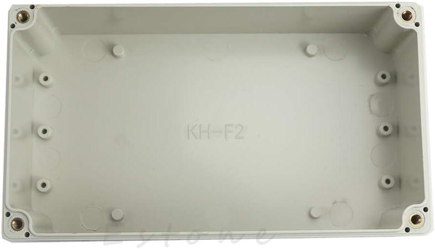 158 x 90 x 60 mm Caja de proyectos electr/ónica resistente al agua con funda transparente para bricolaje pl/ástico carcasa electr/ónica