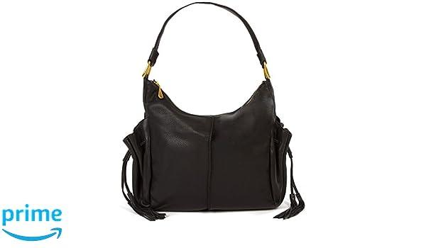 5d468c42adb7 Amazon.com  Hobo Women s Tempest Black Leather Satchel  Shoes