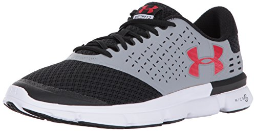 Under Armour Männer Micro G Speed ​​Swift 2 Stahl / Schwarz / Rot