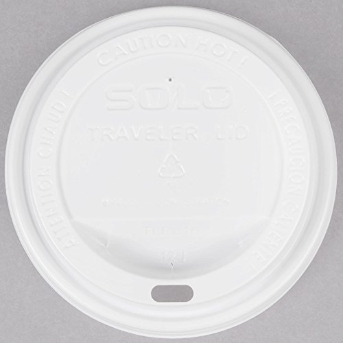 Dart Solo TLP316-0007 Traveler White Dome Hot Cup Lid with Sip Hole - 1000/Case -
