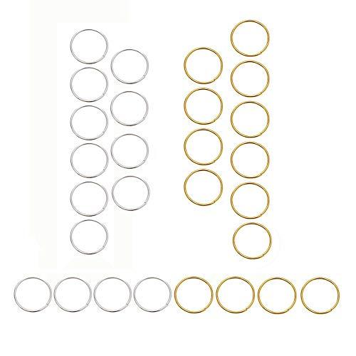 Penta Angel 100Pcs Hair Braid Rings Gold/Silver Hair Coil Dreadlocks Loop Clips Metal Hair Decoration Cuffs Hoops Accessory for Women Girls