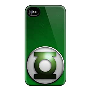 InesWeldon Iphone 4/4s Shock-Absorbing Cell-phone Hard Covers Allow Personal Design Beautiful Green Lantern I4 Skin [OFS5494ZZuu]