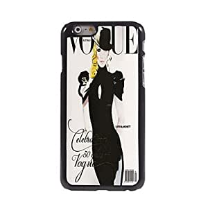 LIMME Modern Girl Pattern Aluminum Hard Case for iPhone 6