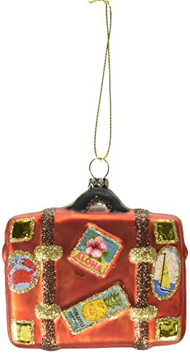 Department 56 Gone to the Beach Coast Luggage Hanging Ornament (Suitcase Ornament)