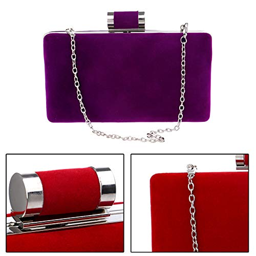 Partito Sposa Borsetta Borsa Spalla Pochette Sera Portafoglio Frizioni Purple Donna Cerimonia Eleganti Rosso 4qWBHHOf
