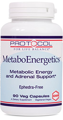 Protocol For Life Balance - MetaboEnergetics - Naturally Formulated Metabolic Diet and Adrenal Support with B Complex, Green Tea Extract, Rhodiola, More- 90 Capsules