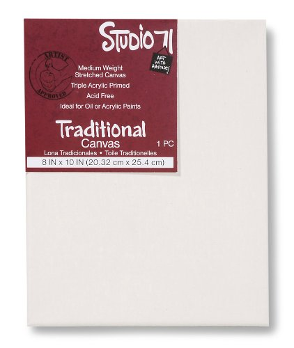 Darice Studio 71 8-Inch-by-10-Inch Traditional Canvas - 8 Traditional Studio