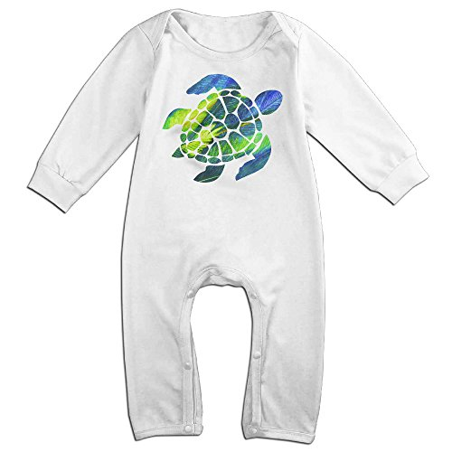 [ZhoYHHeng Tie Dye Turtle Newborn Babys Long Sleeve Jumpsuit Outfits White 18 Months] (Soul Train Outfits)