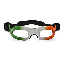 Challenger Lensless Coloured Eyeguards - Green/White/Orange -