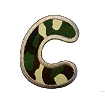 Embroidered Iron On Patch Alphabet/Letter military- complete Alphabet available , Alphabet/Buchstabe:Buchstabe C - 6.2x4.9cm