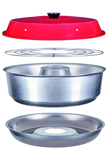 RV Camping Boating & Home Stove Top Oven with Baking Rack + 12 Custom Parchment Paper Rounds for Omnia Stovetop Cooking