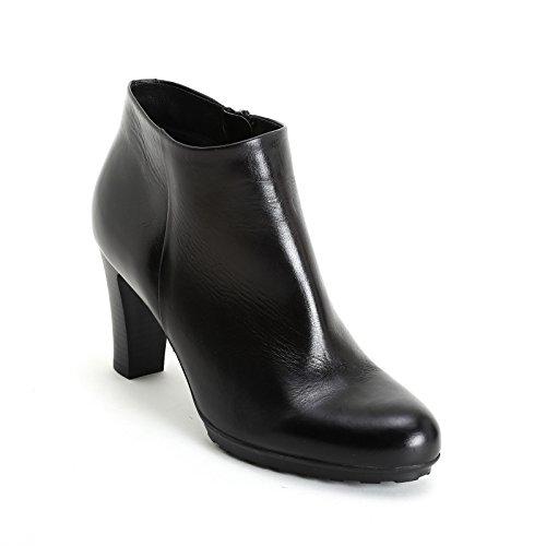 ALESYA by Scarpe&Scarpe - Botines altos con suela militar, de Piel, con Tacones 8 cm Negro