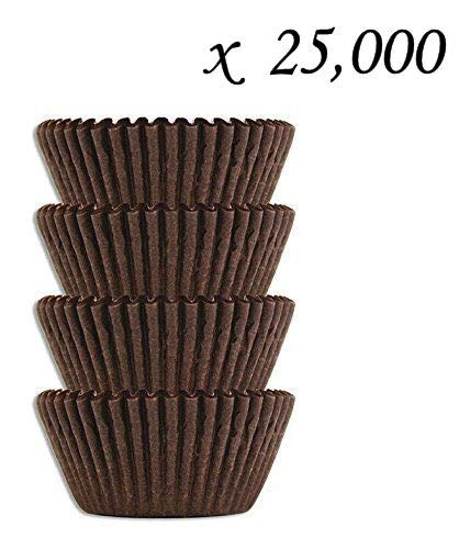 #4 Brown Glassine Paper Candy Cups - Chocolate Peanut Butter Baking Liners (25000)