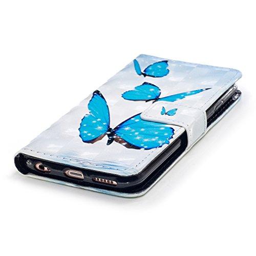 flor modelo Flamingo silicona con soporte funda para Herzzer iPhone Funda cuero de tapa Piel iPhone 6S 3D en de Bookstyle y 6S Elegante billetera 6 para iPhone 6 Patrón con trasero para para con magnética correa suave Estuche xwBqRA