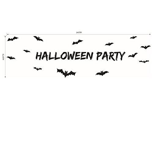 [Pavian Halloween theme series letter halloween party wall stickers for indoor outdoor bar ktv] (Terrorist Costumes)