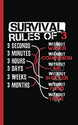 """Survival Rules of Three Wilderness Journal - Notebook: Camping Writing Note Book - 100 Lined Pages + 8 Blank (54 Sheets), Small 5x8"""" (Wilderness Camping Gear Gifts Vol 2)"""
