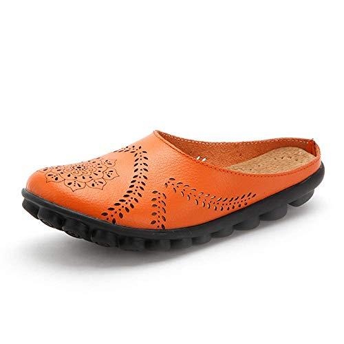 Basso Orange 44 In Da Piselli Madre Donna Taglia 35 Aiutare Estate Scarpe Silver A Pantofole Casual Piatto Autunno Moontang Pelle Per CqwPRR