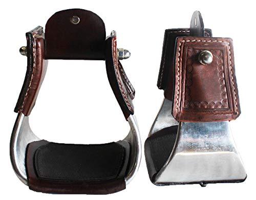 - Horse Saddle SS Aluminium Western Stirrups Pair 4-1/2