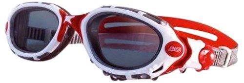 Zoggs Predator Flex - Gafas de natación ahumadas White/Red/Polarised Lens Talla: