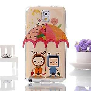 GX caja azul del teléfono del tpu dos villanos patrón de paraguas en tres dimensiones para Samsung Galaxy Note 3